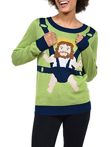 Tipsy Elves Womens Sweet Baby Jesus Christmas Sweater - Funny Christmas Sweater