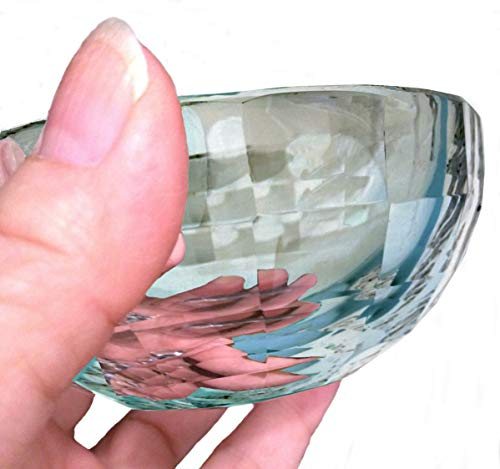 Amlong Crystal Clear Faceted Crystal Mini Bowl 3 Inch