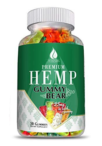Hemp-Gummy-Bears-Hemp-Gummies-for-Pain-and-Anxiety-100-Organic-Natural-Organic-Hemp-Extract-30-Count-750MG-25mg-Each-Made-in-USA–1-Hemp-Edible-Gummie–Anxiety-Relief-Improve-Sleep-Relax