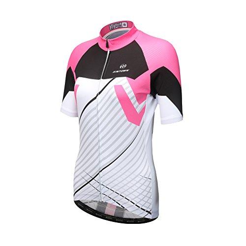 Halloween Lady Bib (DuShow Women/Ladies Summer Multicolor Short-Sleeve Cycling Jerseys Top(S,Pink))
