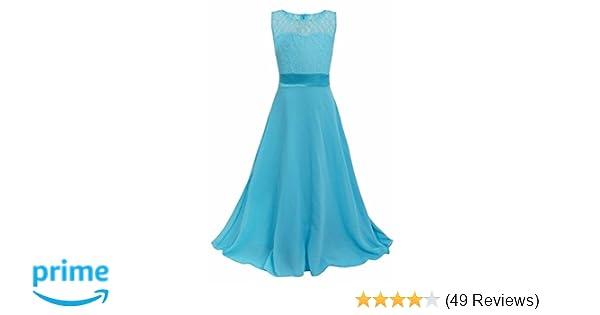 bfde3bc03b47 Amazon.com  Star Flower Kids Lace Chiffon Maxi Dresses Long Prom ...