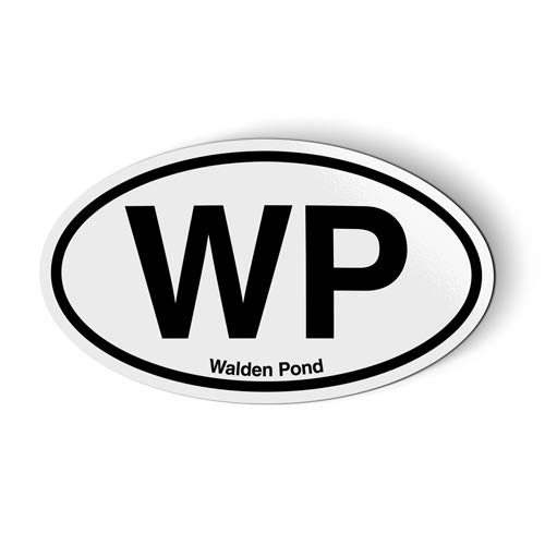 Stickers & Tees WP Walden Pond Concord Massachusetts Oval - Car Magnet - 5