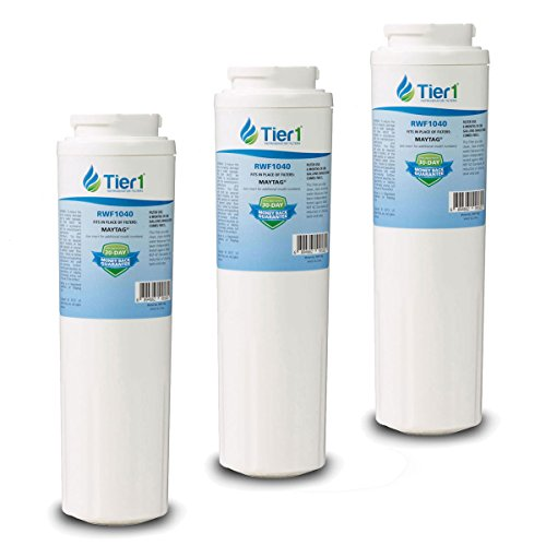 3 Pack Tier1 UKF8001 Replacement Maytag UKF8001, EDR4RXD1, Whirlpool 4396395, PUR, Jenn-Air, Puriclean II, 469006, 469005 Refrigerator Water Filter