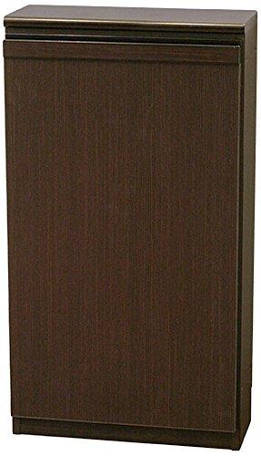 起立木工 奥行き19cm 薄型収納 日本製 45×37×82cm Nスリムキャビネット A型 ミディアムブラウン 28001 B0742HBP1R ミディアムブラウン A型 ミディアムブラウン