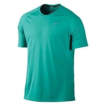 Nike Men's UV Miler Running Shirt (Small, Menta)