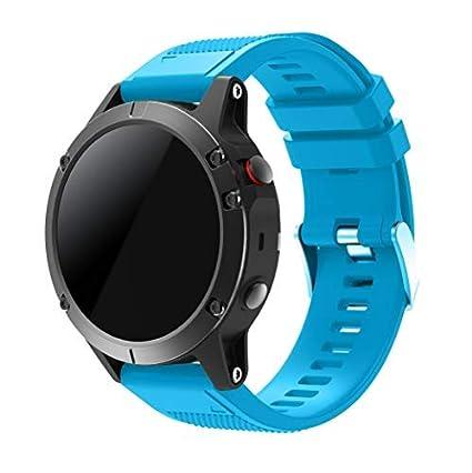 SUPORE Garmin Fenix 5 Watch Banda, Ajuste rápido Correa de Reloj de Silicona Suave para Garmin Fenix 5 GPS Smart Watch