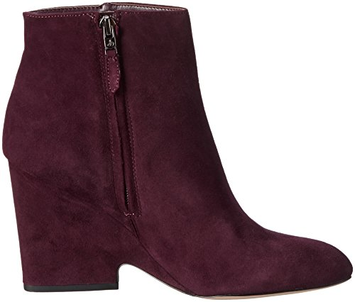 Edelman Wine Port Wilson Kid Femme Rouge Sam Suede Bottines Faq7nwfa1