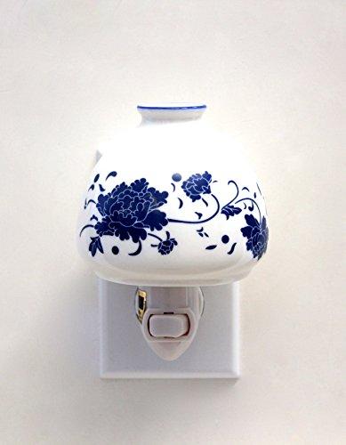 Blue Peony Porcelain Flower nightlights, Night Light ,Night - Peony Porcelain