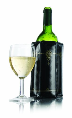 Vacu Vin 38800606 Rapid Ice Active Cooler Wine Bottle Chilling Sleeve, Standard, Classic