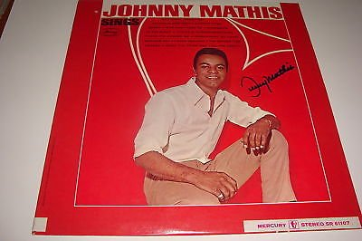 Johnny Mathis Signed Album W/COA Proof Chestnuts A (Chestnut Album)