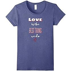 Womens Love quotes Christian love shirt Anti hate shirt Neighbor XL Heather Blue