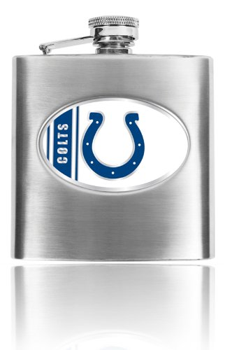Personalized NFL Indianapolis Colts 8oz stainless steel Flask- Free Engraving