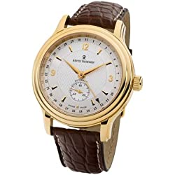 Revue Thommen Men's 14200-2512 Classic Date Pointer Analog Display Swiss Automatic Brown Watch