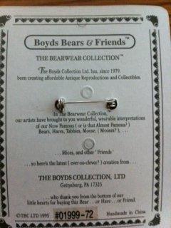 Victoria, Boyd Bear Pin, 01999-72