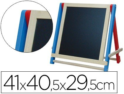 liderpapel 54727Easel Double Sided Slate 41x 40.5x 29.5cm, White
