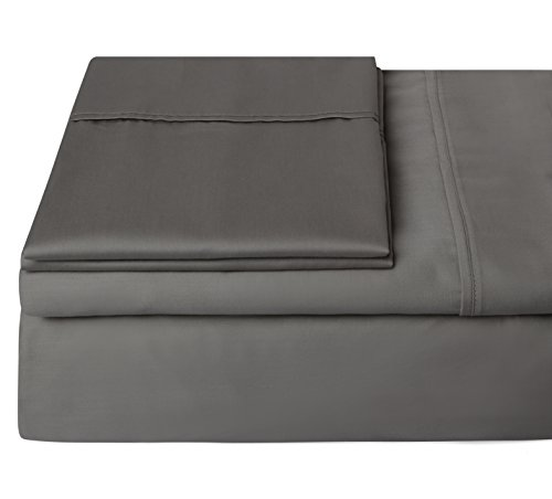 #1 Bedding 400 Thread Count 100% Egyptian Cotton Sheets,Long Staple Cotton,Sateen,Hotel Collection,Luxury,Bestseller Black Friday Deals,Soft Sheets & Pillowcases -King (Dark Gray) -Steffani by STEFFANI