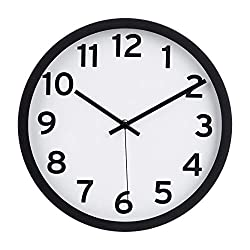 AmazonBasics 12 Numbered Wall Clock, Black