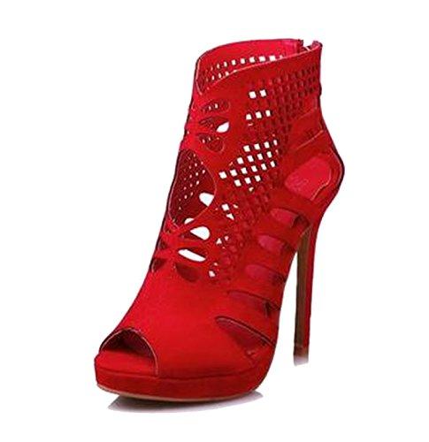 2018 New Size 33 Women New Trend Pumps Girl Super High Thin Heel Sandals Ladies 34 41 42,red,6.5