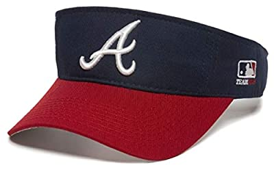 OC Sports Atlanta Braves MLB Two Tone Golf Sun Visor Hat Cap Adult Men's Adjustable