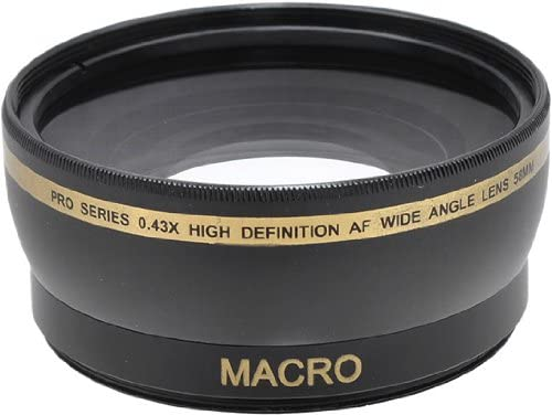 Pro Series 58mm 0.43x Wide Angle Lens Microfiber Cloth for Canon EF-S 18-55mm 3.5-5.6 is II Lens Canon EF 75-300mm 4-5.6 III USM Lens and Other Models Canon EF-S 18-55mm 3.5-5.6 is STM Lens