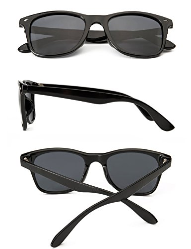 Polarized Sunglasses For Men Wayfarer Black Frame Shades Classic Sun Glasses by Dollger (Image #1)