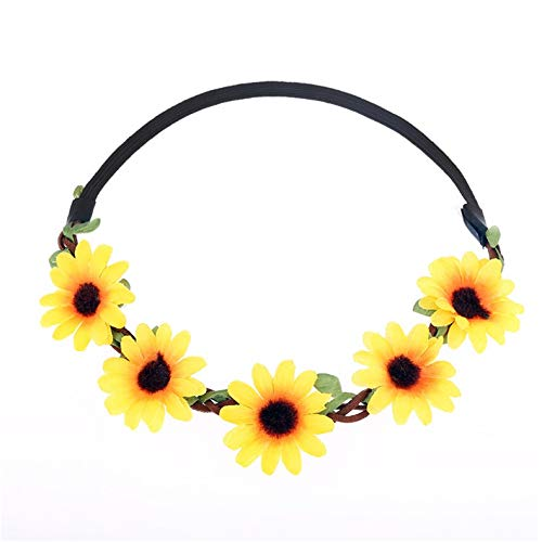 Colorful Lovely Daisy Flowers Headband Elastic Hair Band for Girls Baby Girls