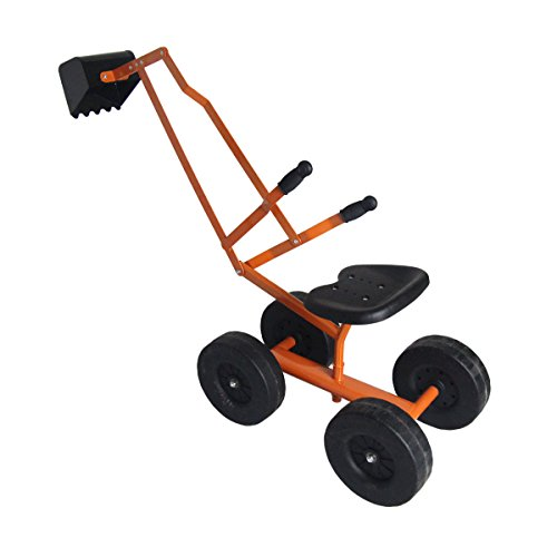 Metal Kid Sand Digger Excavator Toy Digging Scooper w/ 360 Degrees Rotatable Seat by FDInspiration