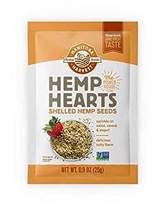 Manitoba Harvest Hemp Hearts Shelled Hemp Seeds, 0.9oz (Pack of 12); 10g Plant-Based Protein & 12g Omegas per Serving, Whole 30 Approved, Vegan, Keto, Paleo, Non-GMO, Gluten Free