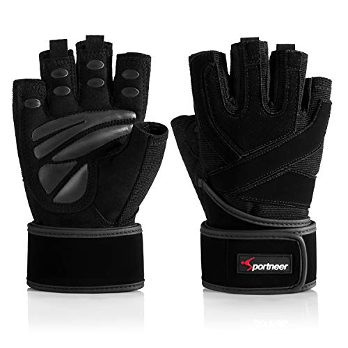 Padded Weight Lifting Gloves, Gym Gloves, Workout Gloves with Built-in 19