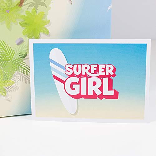 PostkarteSurfer Girl
