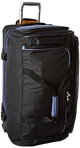 Olympia Sports Plus Drop Bottom Rolling Duffel Bag in Black
