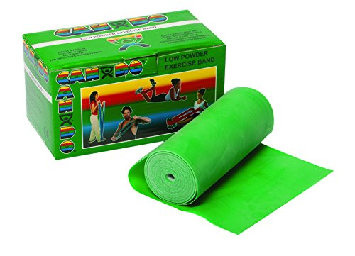 CanDo Low Powder Exercise Band, 6 yard Roll, Green: Medium by Cando