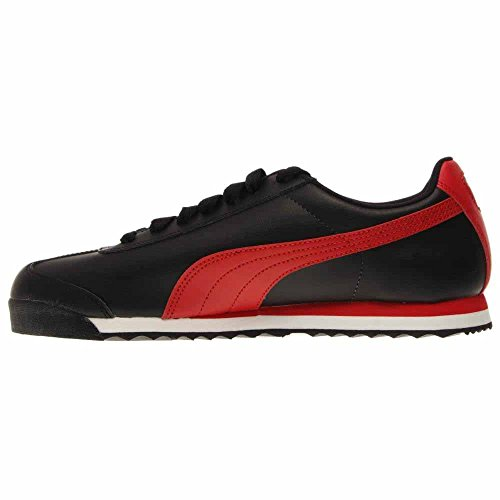 Zapatillas Puma Roma Basic Fs Fashion Sneaker - Negro / Rojo De Alto Riesgo - Para Hombres - 8