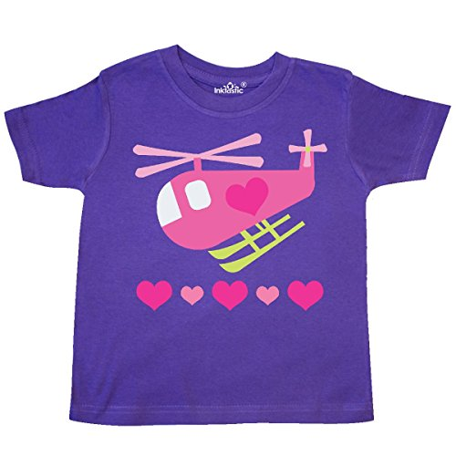 Heart Helicopter (Inktastic - Valentine Pink Heart Helicopter Toddler T-Shirt 2T Purple)