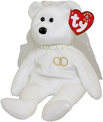 b897b3a3c1b Amazon.com  TY Mrs the Bride Bear Beanie Baby by Ty  Toys   Games