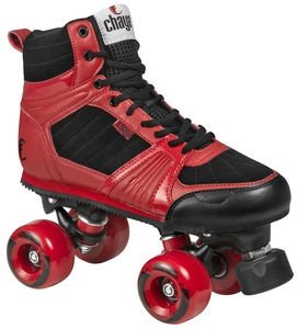 Chaya Jump Red Outdoor Park Roller Skate with Dual Center Mounting (Euro 39 / US 7)