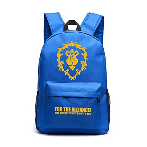 d1e1979a92 WOW Backpack Laptop Bag-Warcraft for the Alliance Backpacks for  School