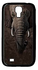 Cool Painting Samsung Galaxy I9500 Case and Cover -Children's Elephant Face Custom PC Hard Case Cover for Samsung Galaxy S4/I9500