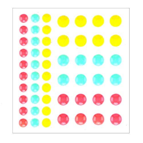 Pink Sugar Sprinkles Self-adhesive Enamel Dots Resin Sticker for Scrapbooking/DIY Crafts /card Making Decoration