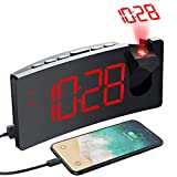 PICTEK Projection Alarm Clock, 4 Dimmer, Digital