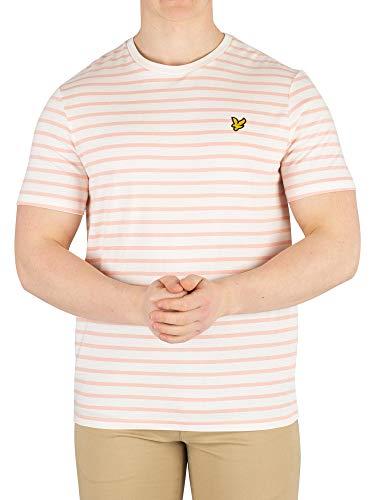 Lyle & Scott Men's Breton Stripe T-Shirt, White, M