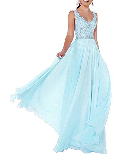 linie ausschnitt Neu Partykleider Gruen Lang Abschlussballkleider mia Rock V Blau Abendkleider A Braut Elegant La Hell fHyq7