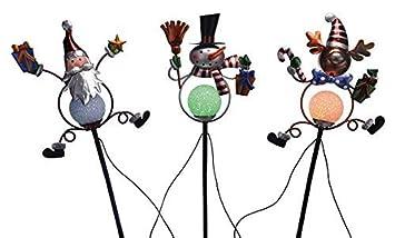 Gartenstecker Weihnachten.Gravidus 3x Solar Led Gartenstecker Weihnachten Amazon De Garten