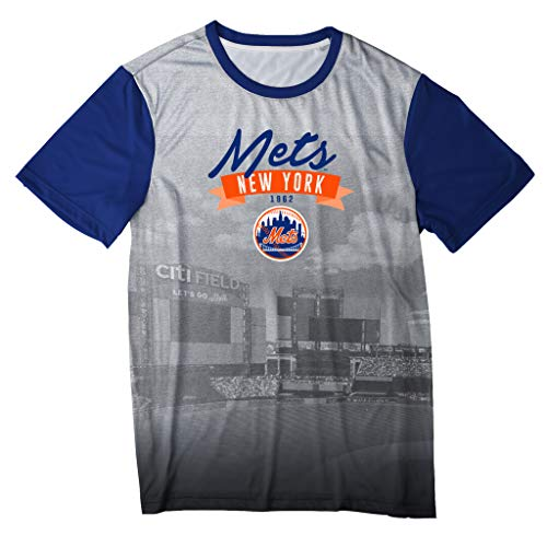 Klew Outfield T-Shirt Team Color New York Mets (X-Large)