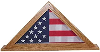 product image for DutchCrafters American Flag Display Case for Burial Flag, Solid Wood Flag Display Case Made in America, Amish Handcrafted Flag Display Case