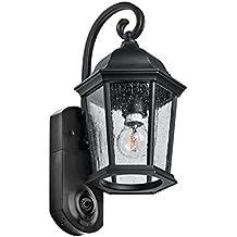 Maximus Video Security Camera & Outdoor Light - Coach Black - Compatible with Alexa