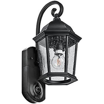 Amazon Com Maximus Video Security Camera Amp Outdoor Light Coach Black Compatible With Alexa Camera Amp Photo