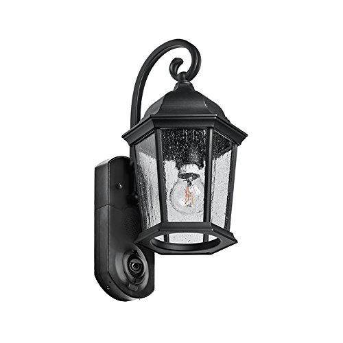(Maximus Video Security Camera & Outdoor Light - Coach Black - Compatible with Alexa)