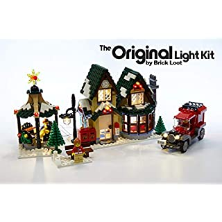 Brick Loot LED Lighting Kit for Lego Winter Village Post Office - 10222 (Lego Set NOT Included)
