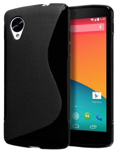 Cimo S-Line Back Case Flexible TPU Cover for LG Google Nexus 5 - Black